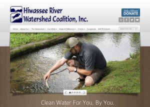 Screenshot of Hiwassee River Watershed Coalition home page