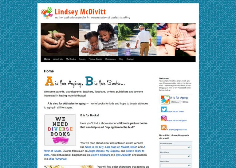 Screenshot of Lindsey McDivitt website home page
