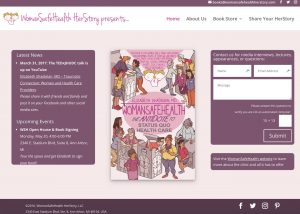 Screenshot of WomanSafeHealth Herstory home page